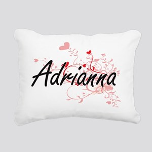 Adrianna Artistic Name D Rectangular Canvas Pillow
