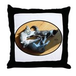 Three Little Kittens Throw Pillow