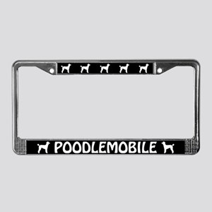 Poodlemobile (lamb cut) License Plate Frame