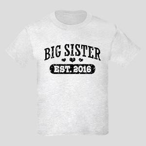 Big Sister Est. 2016 Kids Light T-Shirt