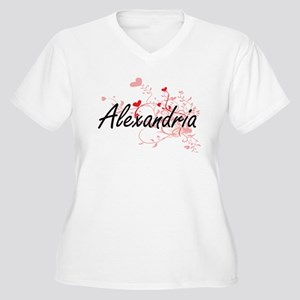 Alexandria Artistic Name Design Plus Size T-Shirt