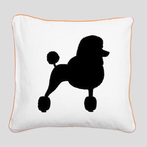 Standard Poodle Square Canvas Pillow