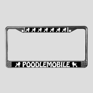 Poodlemobile License Plate Frame