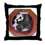 The Three Little Kittens Throw Pillow