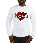 Mom heart tattoo Long Sleeve T-Shirt