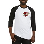 Mom heart tattoo Baseball Jersey