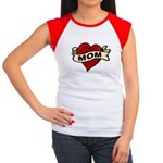 Mom heart tattoo Women's Cap Sleeve T-Shirt