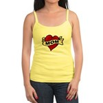 Mom heart tattoo Jr. Spaghetti Tank