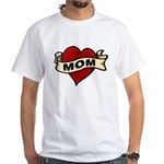 Mom heart tattoo White T-Shirt