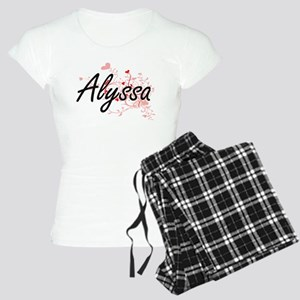 Alyssa Artistic Name Design Women's Light Pajamas