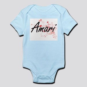 Amari Artistic Name Design with Hearts Body Suit