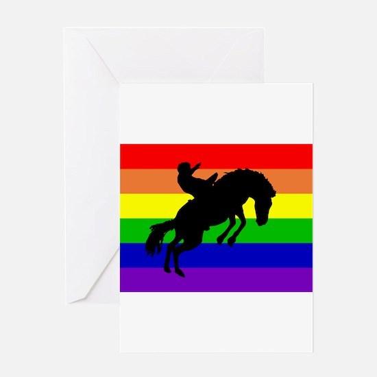 Gay Cowboy Greeting Card