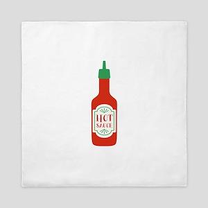 Hot Sauce Bottle  Queen Duvet