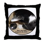 Kitty in the Drain Throw Pillow