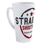 Straight Shooting Logo 1 17 oz Latte Mug