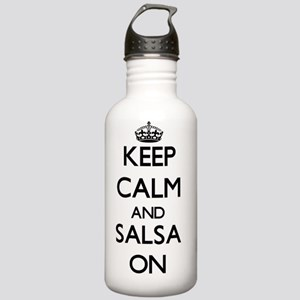 Keep Calm and Salsa ON Stainless Water Bottle 1.0L