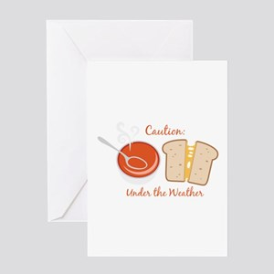 Under The Weather Greeting Cards