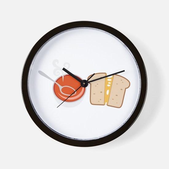 Soup & Sandwich Wall Clock
