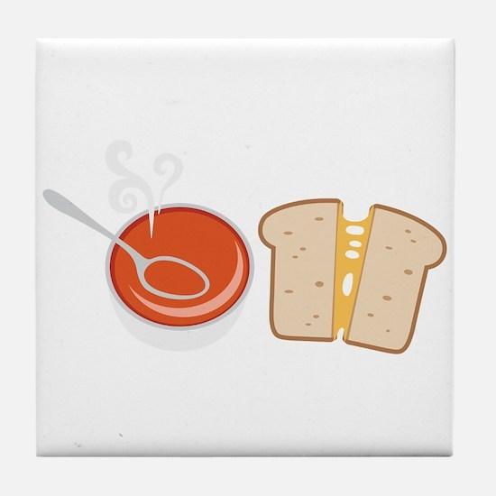 Soup & Sandwich Tile Coaster