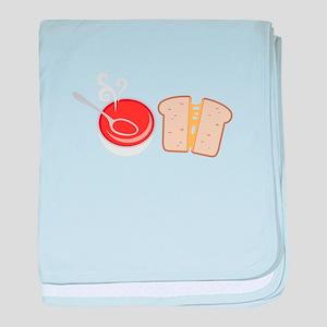 Soup & Sandwich baby blanket