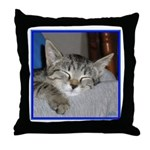 Sleeping Tabby Kitten Throw Pillow