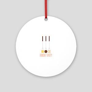 Fondue Party Ornament (Round)
