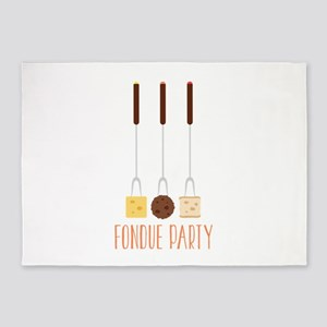 Fondue Party 5'x7'Area Rug