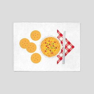 Pimento Cheese Crackers 5'x7'Area Rug