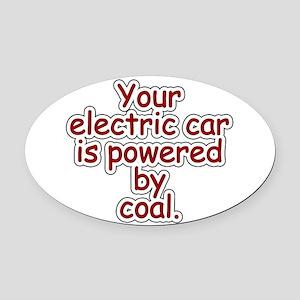 Coal Oval Car Magnet