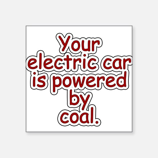 """Coal Square Sticker 3"""" x 3"""""""