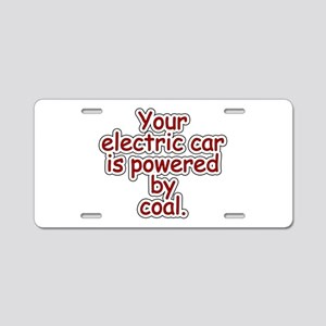 Coal Aluminum License Plate