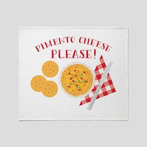 Pimento Cheese Please Throw Blanket