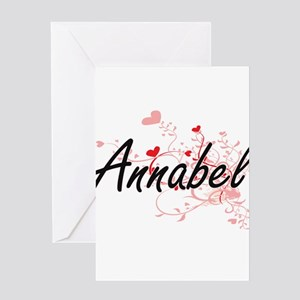 Annabel Artistic Name Design with H Greeting Cards