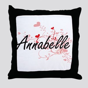 Annabelle Artistic Name Design with H Throw Pillow