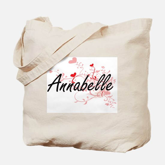 Annabelle Artistic Name Design with Heart Tote Bag