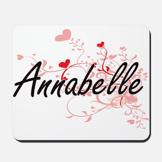 Annabelle Artistic Name Design with Hear Mousepad
