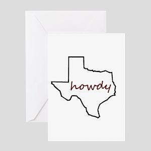 Texas aggie greeting cards cafepress howdytexas5boldmaroon greeting cards m4hsunfo