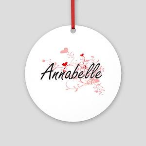 Annabelle Artistic Name Design wi Ornament (Round)