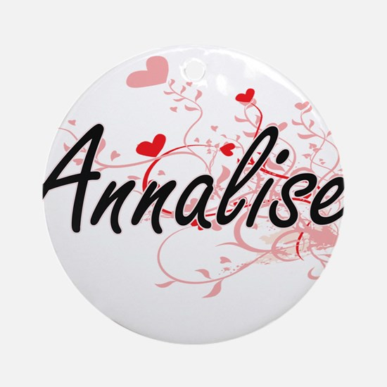 Annalise Artistic Name Design wit Ornament (Round)