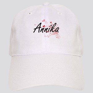 Annika Artistic Name Design with Hearts Cap