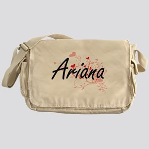 Ariana Artistic Name Design with Hea Messenger Bag