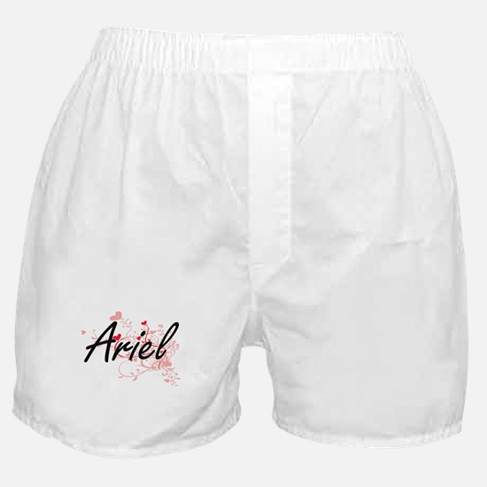 Ariel Artistic Name Design with Heart Boxer Shorts
