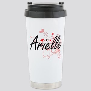 Arielle Artistic Name D Stainless Steel Travel Mug
