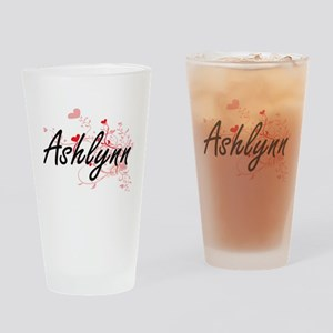 Ashlynn Artistic Name Design with H Drinking Glass