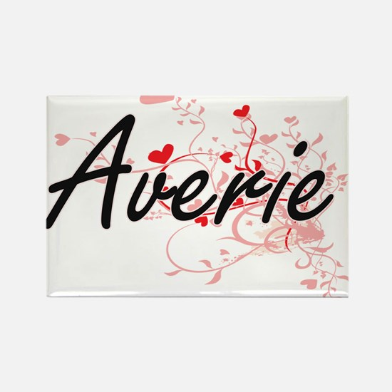 Averie Artistic Name Design with Hearts Magnets
