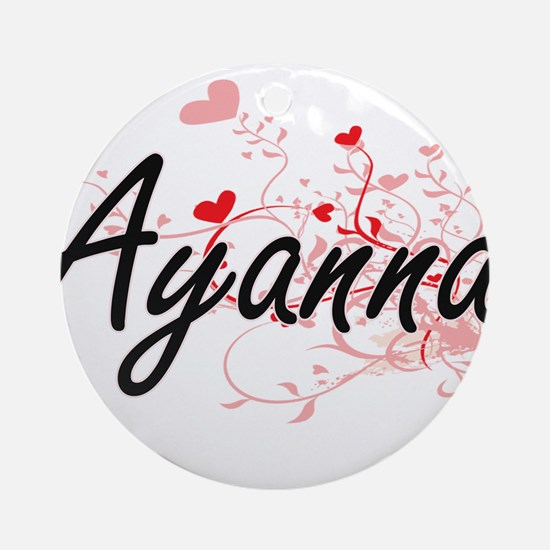 Ayanna Artistic Name Design with Ornament (Round)