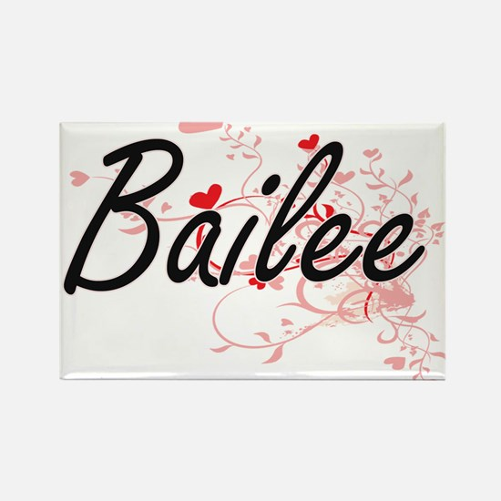 Bailee Artistic Name Design with Hearts Magnets