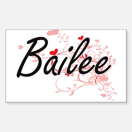 Bailee Artistic Name Design with Hearts Decal