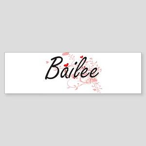 Bailee Artistic Name Design with He Bumper Sticker
