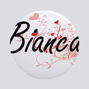 Bianca Artistic Name Design with Ornament (Round)